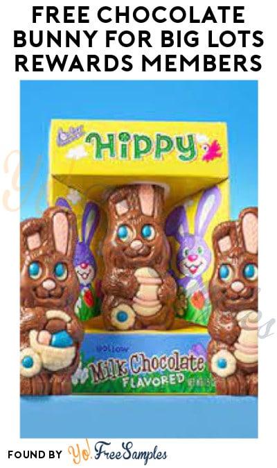 FREE Chocolate Bunny for Big Lots Rewards Members