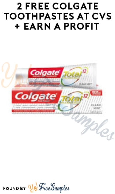 2 FREE Colgate Toothpastes at CVS + Earn A Profit (App/ Coupons Required)