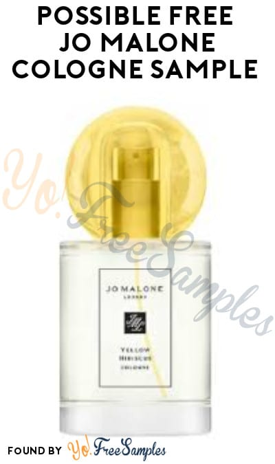 Possible FREE Jo Malone Cologne Sample (Facebook Required)