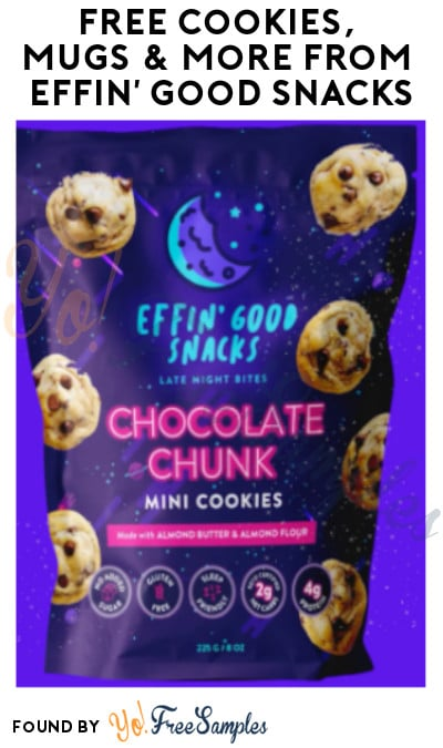FREE Cookies, Mugs & More from Effin' Good Snacks (Referring Required)