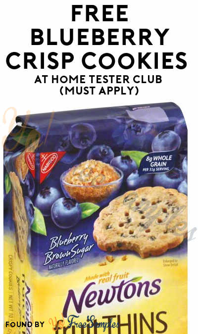 FREE Blueberry Crisp Cookies At Home Tester Club (Must Apply)