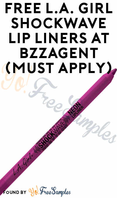 FREE L.A. Girl Shockwave Lip Liners At BzzAgent (Must Apply)