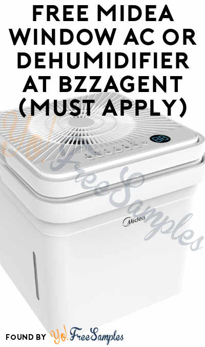 FREE Midea Window Air Conditioner or Wifi Cube Dehumidifier At BzzAgent (Must Apply)