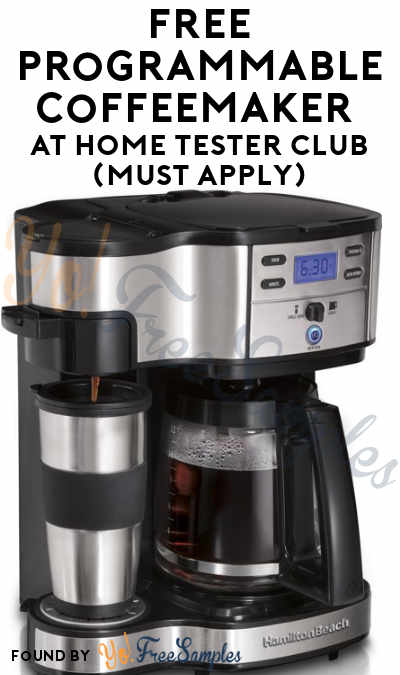 FREE Programmable Coffeemaker At Home Tester Club (Must Apply)