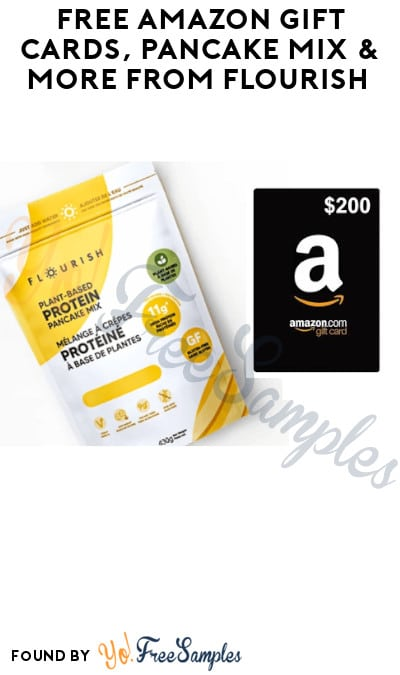 FREE Amazon Gift Cards, Pancake Mix & More from Flourish (Referring Required)