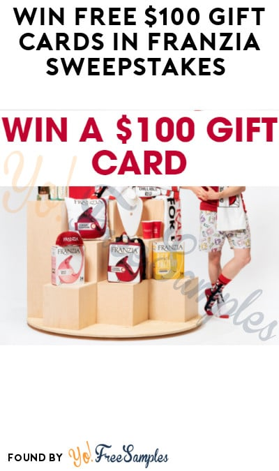 Win FREE $100 Gift Cards in Franzia Sweepstakes (Ages 21 & Older Only)