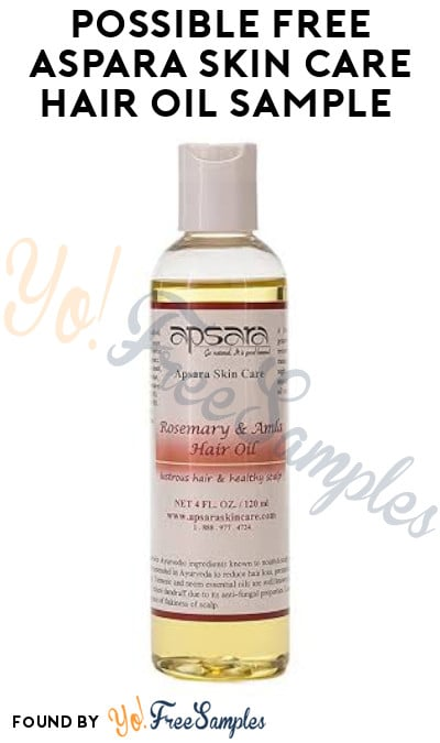 Possible FREE Aspara Skin Care Hair Oil Sample (Facebook Required)