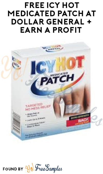 FREE Icy Hot Medicated Patch at Dollar General + Earn A Profit (Ibotta Required)