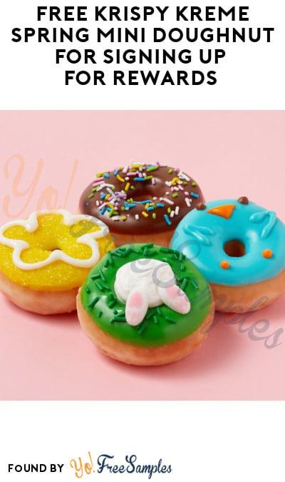 FREE Krispy Kreme Spring Mini Doughnut for Signing Up for Rewards