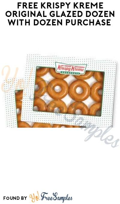 FREE Krispy Kreme Original Glazed Dozen with Dozen Purchase (Online & In-Stores)