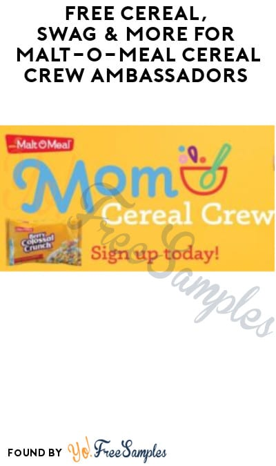 FREE Cereal, Swag & More for Malt-O-Meal Cereal Crew Ambassadors (Must Apply)