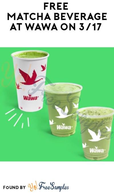 FREE Matcha Beverage at Wawa on 3/17 (Rewards Account Required)