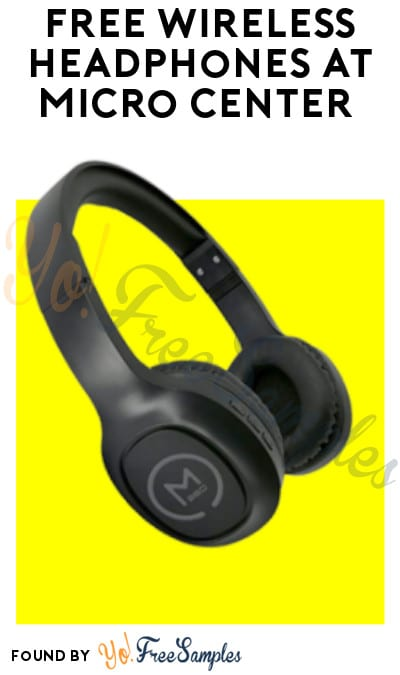 FREE Wireless Headphones at Micro Center (Coupon Required)