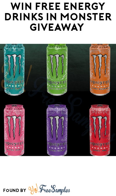 Win FREE Energy Drinks in Monster Giveaway