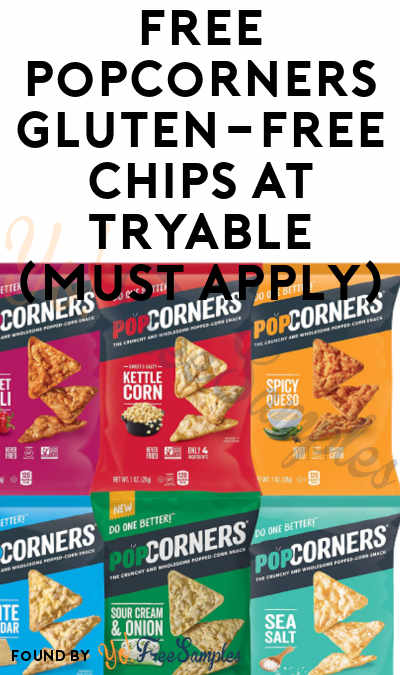 FREE Popcorners Gluten-Free Chips At Tryable (Must Apply)