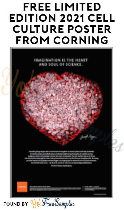 FREE Limited Edition 2021 Cell Culture Poster from Corning (Company/ Organization Name Required)