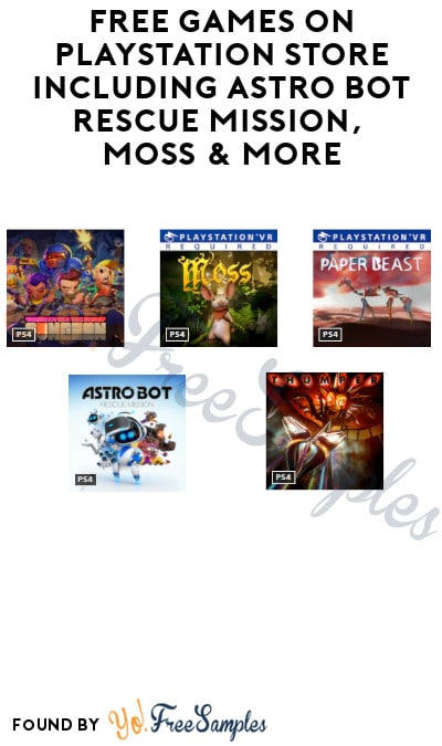 FREE Games on PlayStation Store Including Astro Bot Rescue Mission, Moss & More