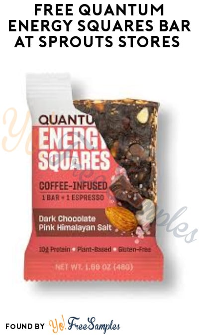 FREE Quantum Energy Squares Bar at Sprouts Stores (App Required)