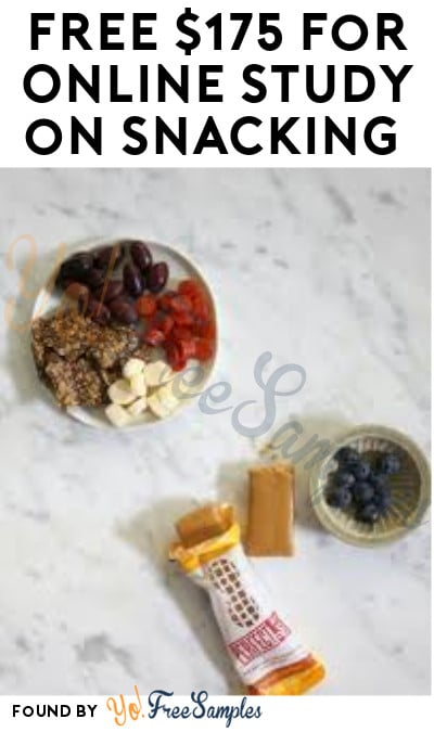 FREE $175 for Online Study on Snacking (Must Apply)