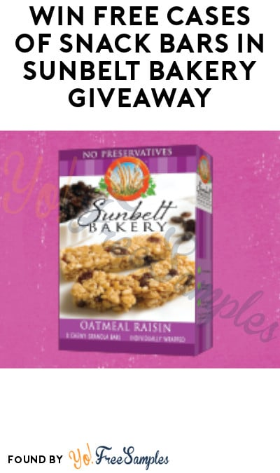 Win FREE Cases of Snack Bars in Sunbelt Bakery Giveaway