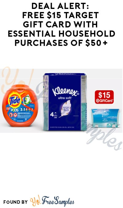 DEAL ALERT: FREE $15 Target Gift Card with Essential Household Purchases of $50+ (Online Only)