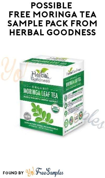 Possible FREE Moringa Tea Sample Pack from Herbal Goodness