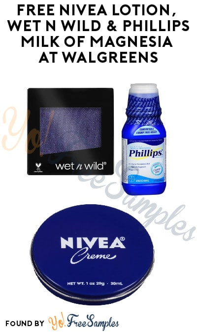 FREE Nivea Lotion, Wet n Wild & Phillips Milk of Magnesia at Walgreens (Coupon Required + Online Only)
