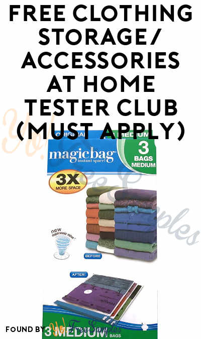 FREE Clothing Storage/Accessories At Home Tester Club (Must Apply)