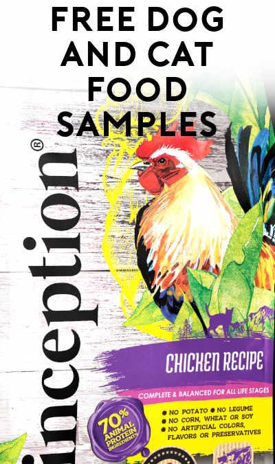FREE Inception Pet Foods Cat & Dog Food Samples