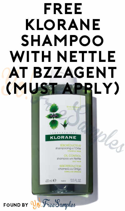 FREE Klorane Shampoo With Nettle At BzzAgent (Must Apply)