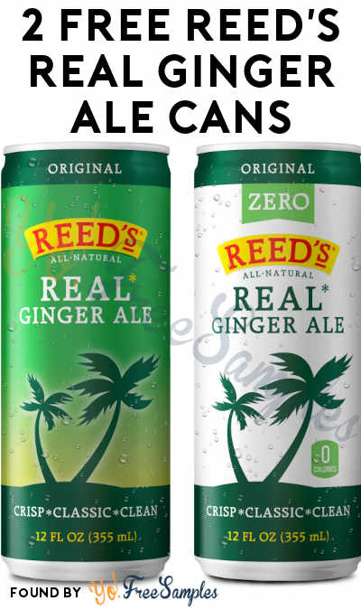 2 FREE Reed's Real Ginger Ale Cans