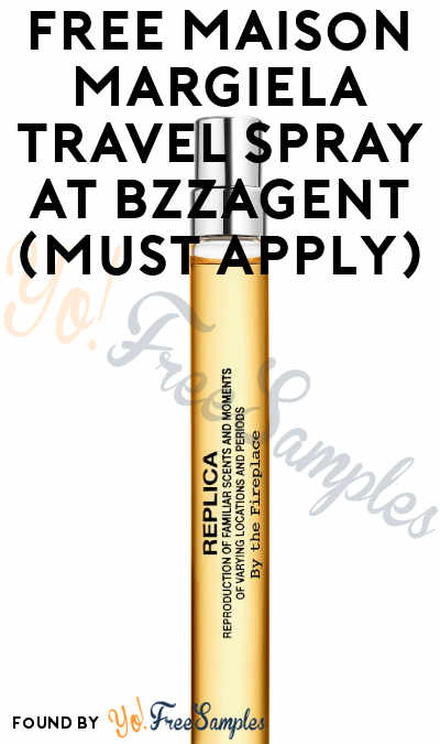 FREE Maison Margiela Travel Spray At BzzAgent (Must Apply)