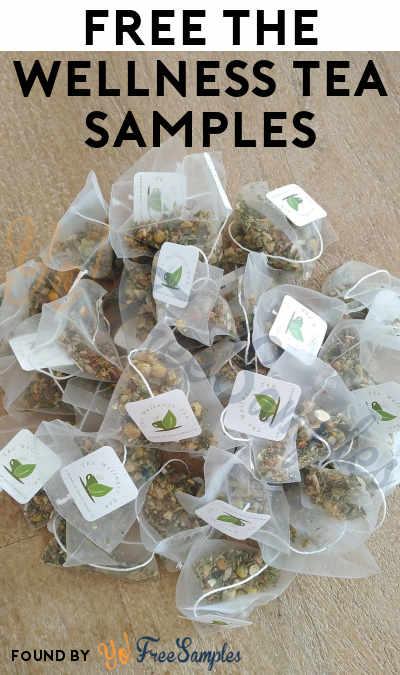 FREE The Wellness Tea Samples