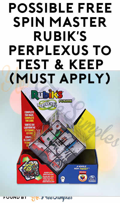 Possible FREE Spin Master Rubik's Perplexus To Test & Keep (Must Apply)
