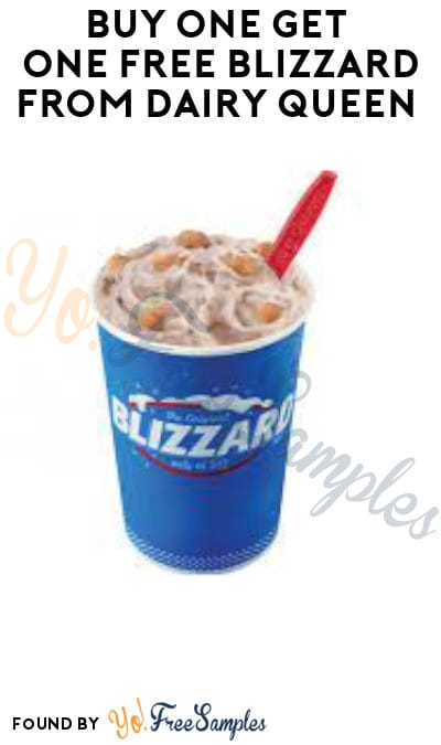 Buy One Get One FREE Blizzard from Dairy Queen (App Required)