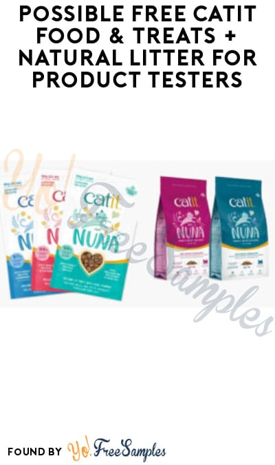 Possible FREE Catit Food & Treats + Natural Litter for Product Testers (Must Apply)