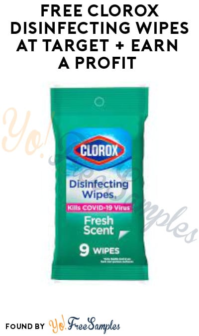 FREE Clorox Disinfecting Wipes at Target + Earn A Profit (Fetch Rewards Required)