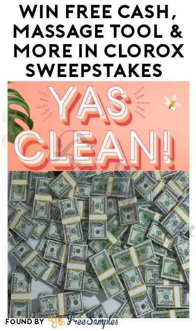 Win FREE Cash, Massage Tool & More in Clorox Sweepstakes
