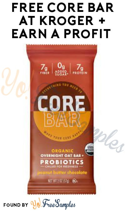 FREE CORE Bar at Kroger + Earn A Profit (Account/ Coupon & Ibotta Required)