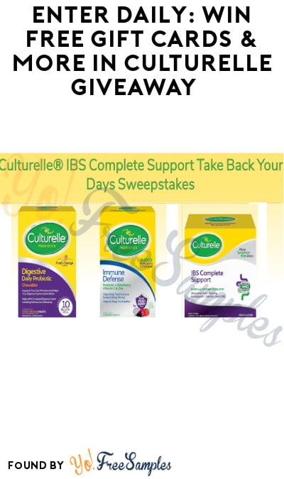 Enter Daily: Win FREE Gift Cards & More in Culturelle Giveaway