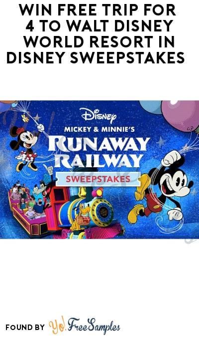 Win FREE Trip for 4 to Walt Disney World Resort in Disney Sweepstakes