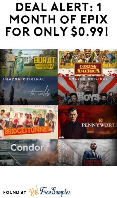 DEAL ALERT: 1 Month of Epix for Only $0.99! (Prime & Credit Card Required)