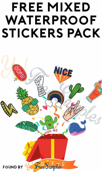 FREE Mixed Waterproof Stickers Pack