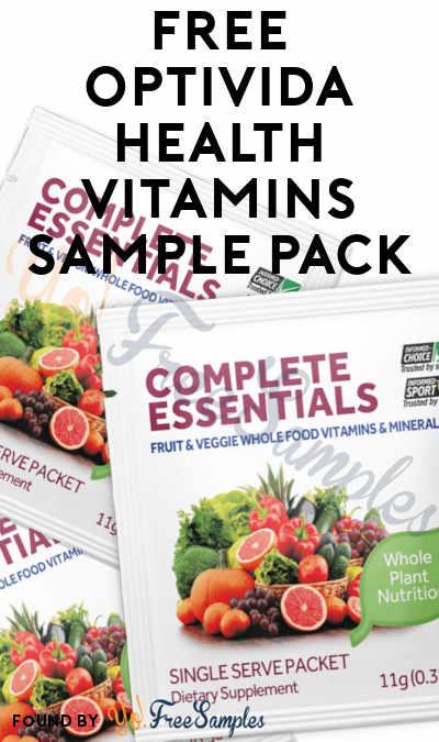 FREE Optivida Health Vitamins Sample Pack
