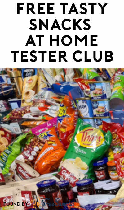 FREE Tasty Snacks At Home Tester Club (Must Apply)