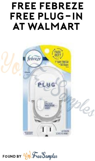 FREE Febreze Plug-In at Walmart (Cellphone/ Coupon Required)
