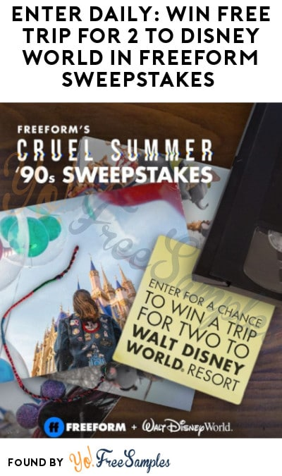 Enter Daily: Win FREE Trip for 2 to Disney World in Freeform Sweepstakes (Instagram Required)