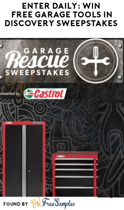 Enter Daily: Win FREE Garage Tools in Discovery Sweepstakes (Ages 21 & Older Only)