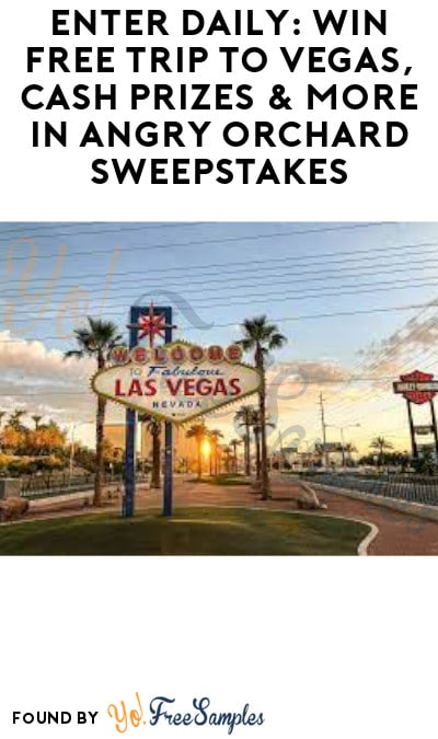 Enter Daily: Win FREE Trip to Vegas, Cash Prizes & More in Angry Orchard Sweepstakes (Ages 21 & Older Only)