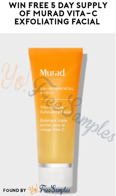 Possible FREE 5-Day Supply of Murad Vita-C Exfoliating Facial (Instagram Required)
